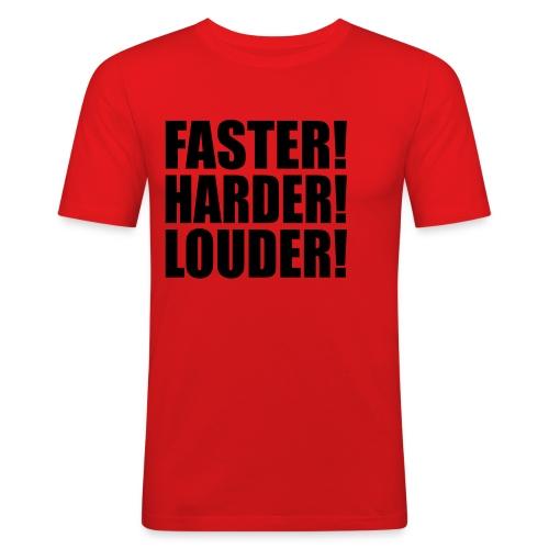faster  - Men's Slim Fit T-Shirt