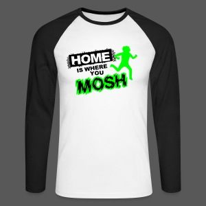 Baseballshirt Home is where you mosh - Männer Baseballshirt langarm