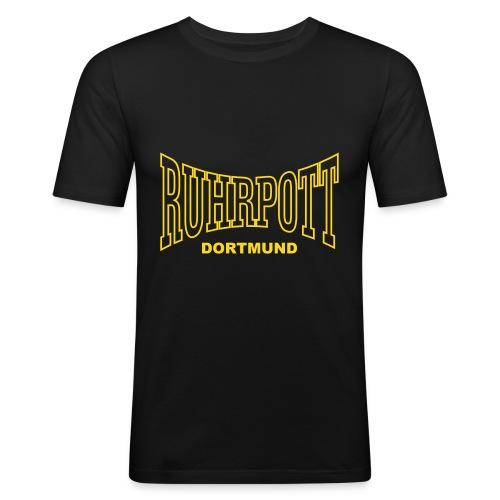 Ruhrpott Dortmund einfarbig - Männer Slim Fit T-Shirt