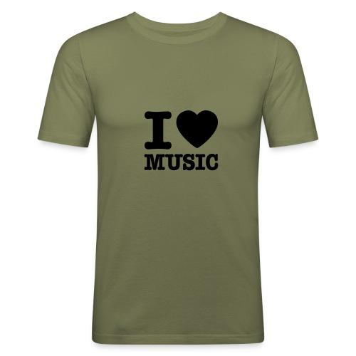 T.skjorte med love music motiv - Slim Fit T-skjorte for menn
