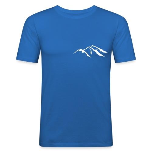 Blå Extra -1 - Slim Fit T-skjorte for menn