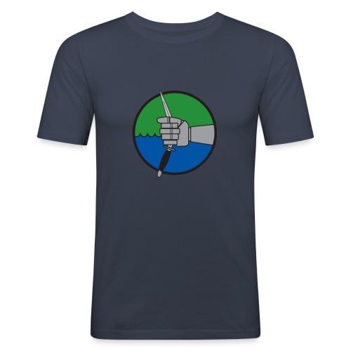 förbm3 blå - Slim Fit T-shirt herr