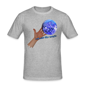Herre slim fit T-shirt, let out the magic ~ 2277