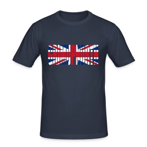 Grim Union Jack - Men's Slim Fit T-Shirt