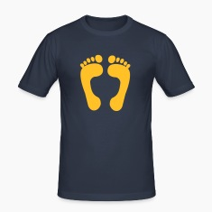Dark navy cute little baby feet T-Shirts