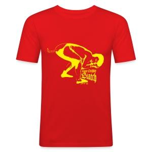 T-shirt Happy birthday biatch - slim fit T-shirt