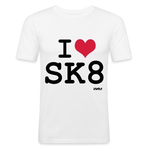 Camiseta ajustada Slim fit Logo skate (I Love SK8) - Camiseta ajustada hombre