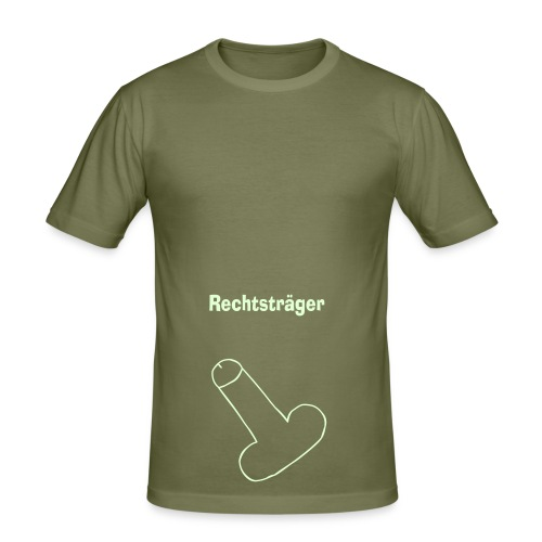 rechtsträger - Männer Slim Fit T-Shirt