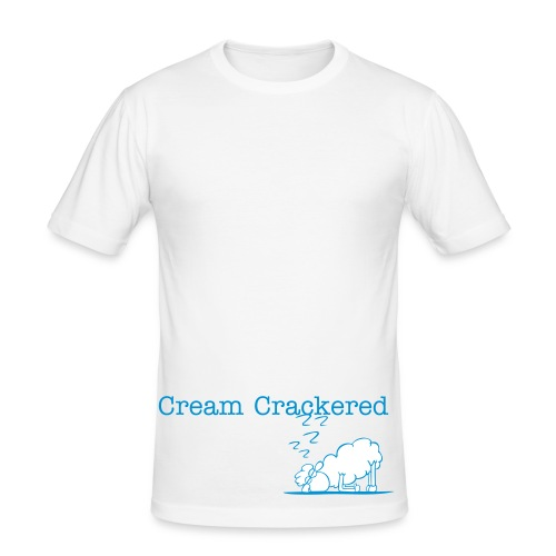 Cream Cracker-ed - Men's Slim Fit T-Shirt
