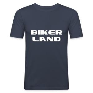 Biker Land - Tee shirt près du corps Homme