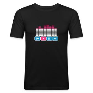 Press play please - Slim Fit T-skjorte for menn
