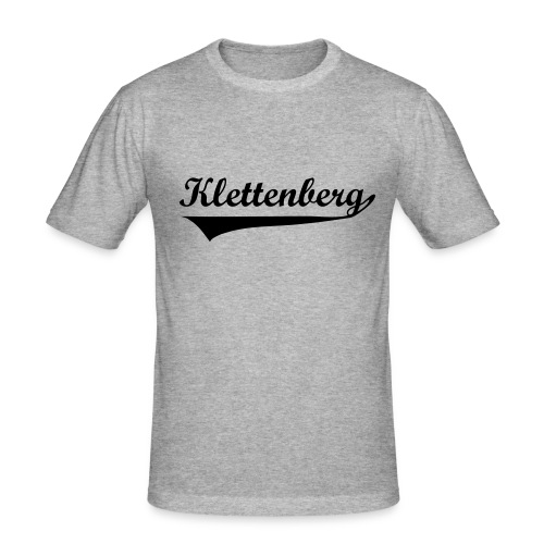 Klettenberg Sport Shirt Farbwahl (schwarzer Druck) - Männer Slim Fit T-Shirt