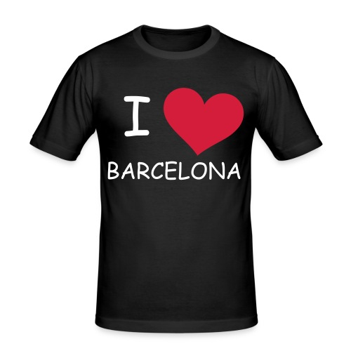 I Love Barcelona - Herre Slim Fit T-Shirt