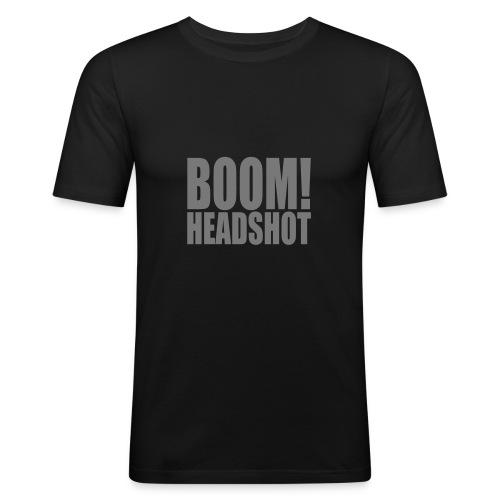 Boom-Headshot Männer-T-Shirt - Männer Slim Fit T-Shirt