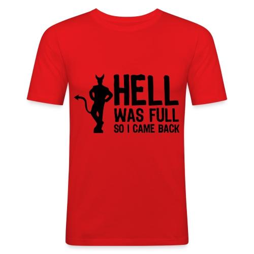Hell - Miesten tyköistuva t-paita