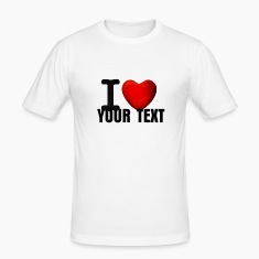 White i ❤ love ilove 3d ich liebe i heart ❤ Men's T-Shirts