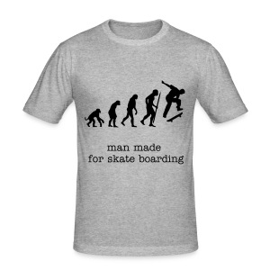 evolution skateboarding t shirt - Men's Slim Fit T-Shirt