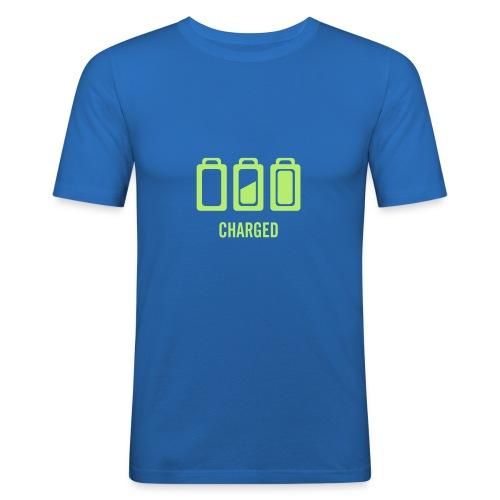 Blue batteries - T-shirt près du corps Homme