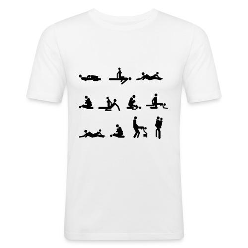 What is your position ?? - T-shirt près du corps Homme