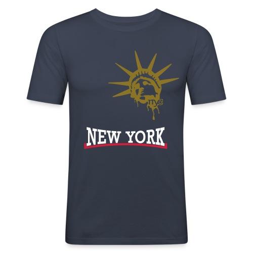 Männer Slim Fit  T- Shirt von KLUMqp! -  New York - Männer Slim Fit T-Shirt