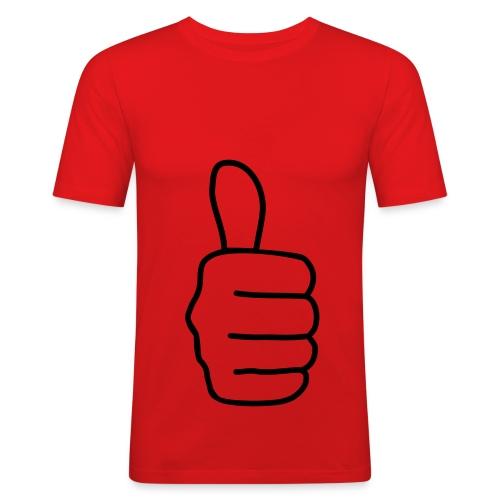 Tommel opp - Slim Fit T-skjorte for menn