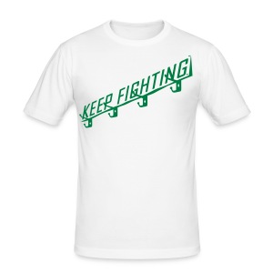 KEEP FIGHTING - DONS DRESSING ROOM SIGN - Men's Slim Fit T-Shirt