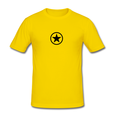 Egg yellow Star in circle Men's T-Shirts