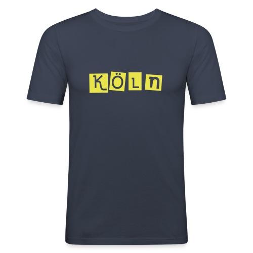 Shirt Köln dunkelblau 4 - Männer Slim Fit T-Shirt