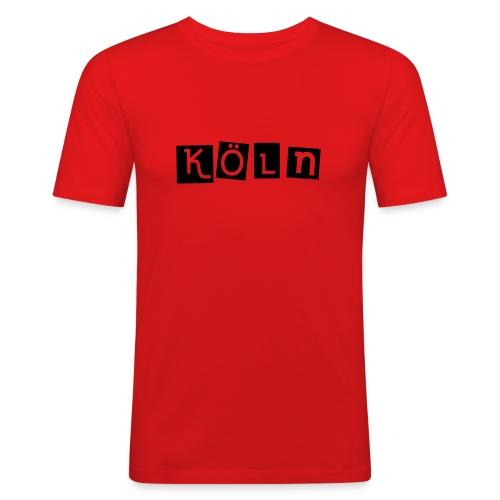 Shirt Köln rot 3 - Männer Slim Fit T-Shirt