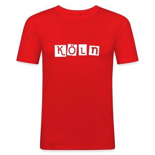 Shirt Köln rot - Männer Slim Fit T-Shirt