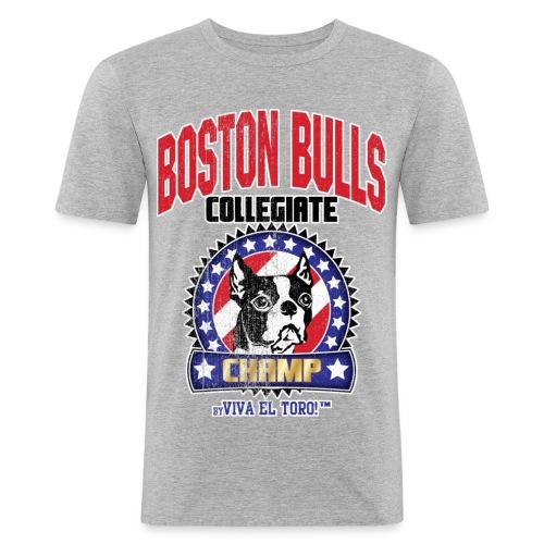 Viva El Toro! Boston Bull Champ  - Men's Slim Fit T-Shirt