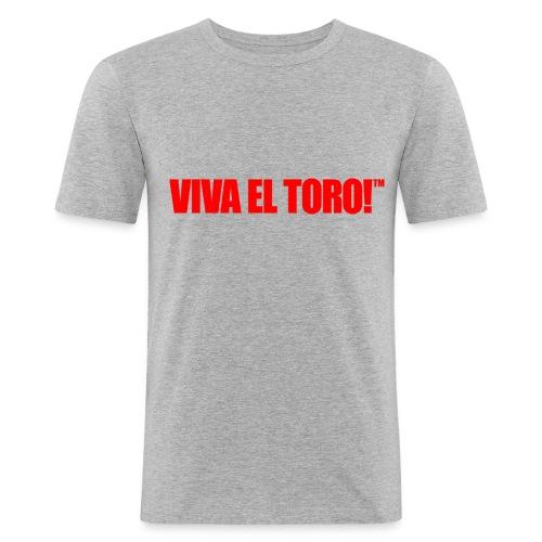 VIVA EL TORO! Logoprint. sulla maglietta slim sul grigio - Men's Slim Fit T-Shirt