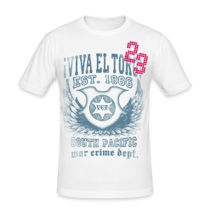 VIVA EL TORO! South Pacific Shirt. Maglietta slim. - Men's Slim Fit T-Shirt