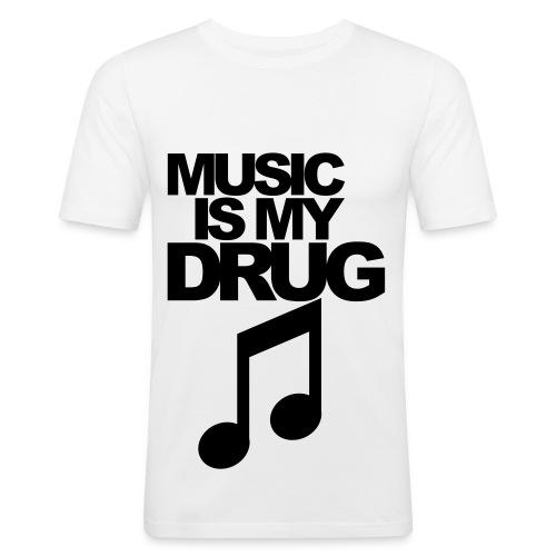 Music Is My Drug - Men's Slim Fit T-Shirt