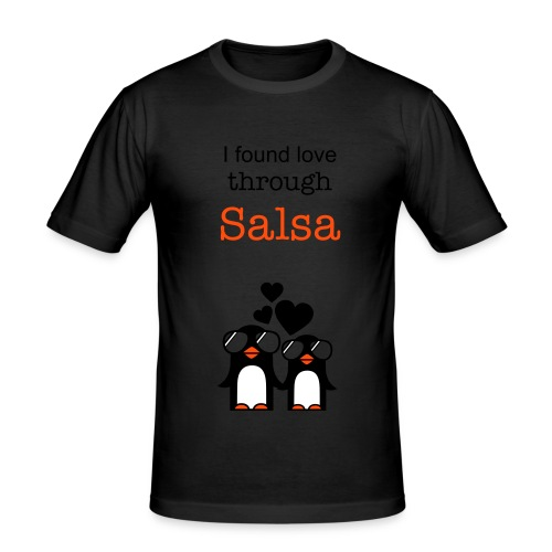 Found love through Salsa - Men's Slim Fit T-Shirt