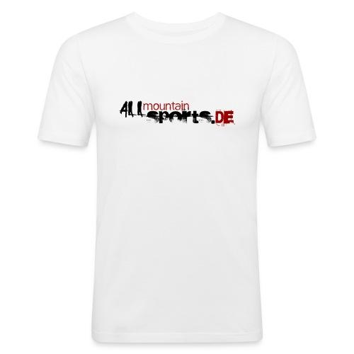 Logo-Shirt ALLmountainSPORTS.de - Männer Slim Fit T-Shirt