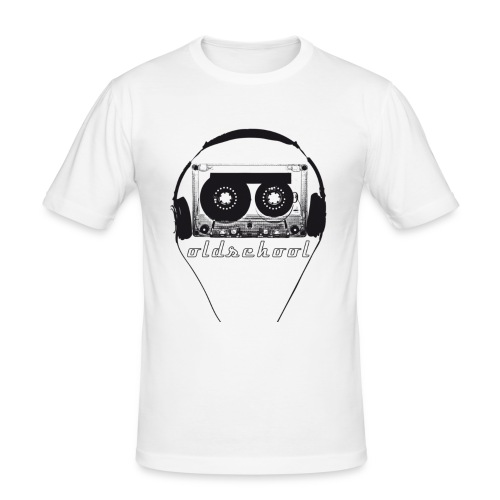 oldschoolshirt - Männer Slim Fit T-Shirt