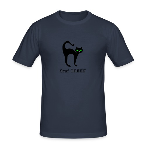 Sraf GREEN cat - Männer Slim Fit T-Shirt