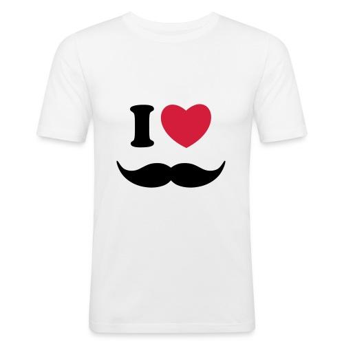 I <3 Mustache tee - Men's Slim Fit T-Shirt