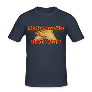 Funny T-shirt Make Tosti's, not war! - slim fit T-shirt