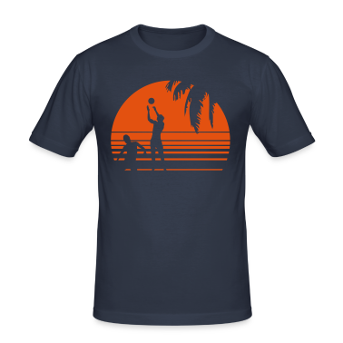 BEACH VOLLEYBALL SUNSET PALME 1C T-Shirts