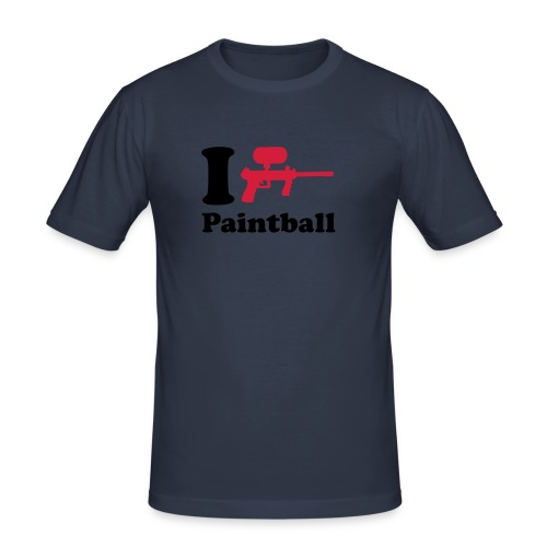 I Heart Paintball Tee - Men's Slim Fit T-Shirt