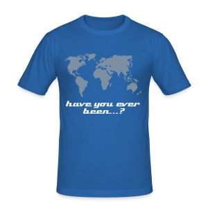 World T-Shirt - Männer Slim Fit T-Shirt