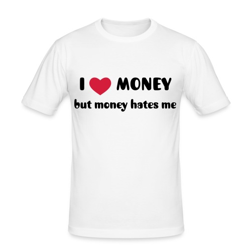 Men's I heart money t-shirt  - Men's Slim Fit T-Shirt
