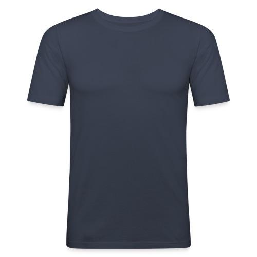 Shirt Blau - Männer Slim Fit T-Shirt