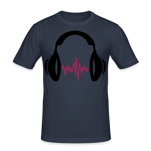 Unser Musik Logo - Männer Slim Fit T-Shirt