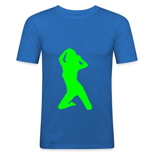 T-Shirt uomo con donna raffigurata davanti - Maglietta aderente da uomo