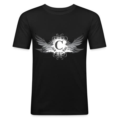 T-Shirt Man Black - T-shirt près du corps Homme
