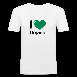 I love Organic Slim Shirt - Männer Slim Fit T-Shirt