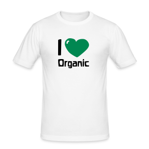 I love Organic Slim Shirt - Männer Slim Fit T-Shirt